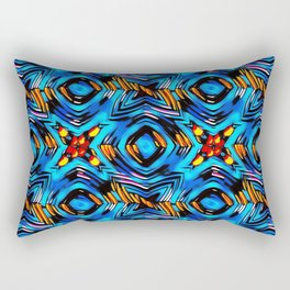 Blue-red abstract Rectangular Pillow
