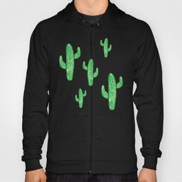 Linocut Cacti Green Hoody