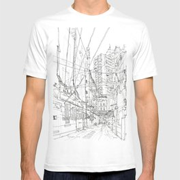 Shanghai. China. Yard full of wires T-shirt