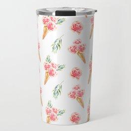 Floral Cones Pattern Travel Mug
