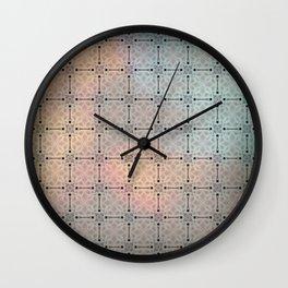 Flowered twilight Wall Clock