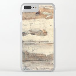 Wood shipboard repairing Clear iPhone Case