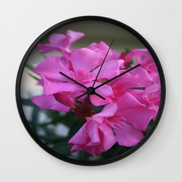 Pink Oleander Bunch Wall Clock