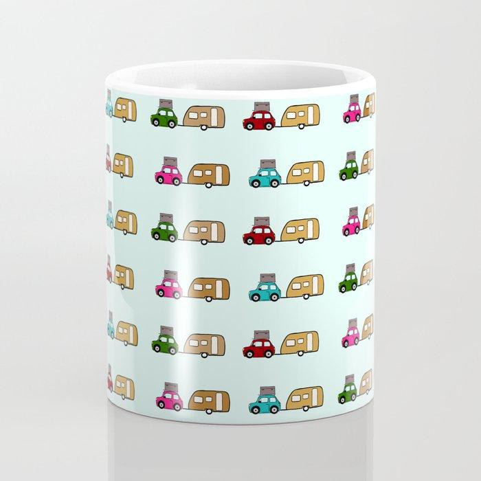 Car with caravan Coffee Mug