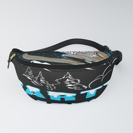 Skiing Snow Piste Party Powder Apres Winter sports holidays Fanny Pack