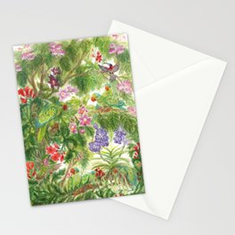 Birds and Orchids Tropical Rainforest II Stationery Cards