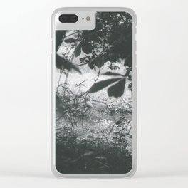 Deer Through the Leaves Clear iPhone Case