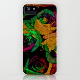 Funky Roses IV iPhone Case