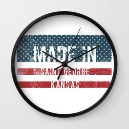 Made in Saint George, Kansas Wall Clock