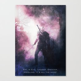 Geralt of Witcher Wild Hunt Canvas Print