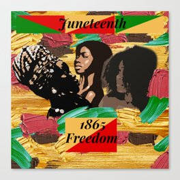 Juneteenth 1865 Freedom Collage Canvas Print