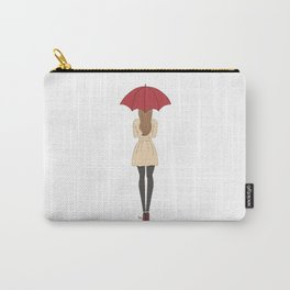Fashion Girl Red Umbrella Red Bottom Heels Carry-All Pouch