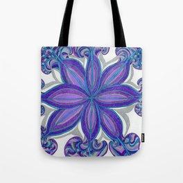 Bloom in Aqua & Purple Tote Bag