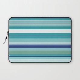 Tropical Blue Stripe|Banana Leaf Coordinate|Renee Davis Laptop Sleeve
