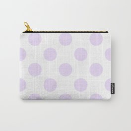 Geometric Orbital Circles In Pale Delicate Summer Fresh Lilac Dots on White Carry-All Pouch