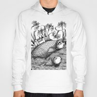 jazzberry Hoodies featuring The Golden Fish (1) by Judith Clay