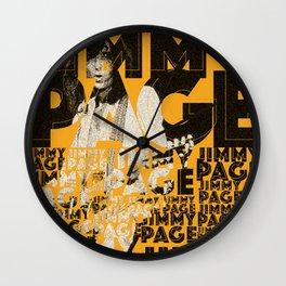 Jimmy Page - Yellow Wall Clock