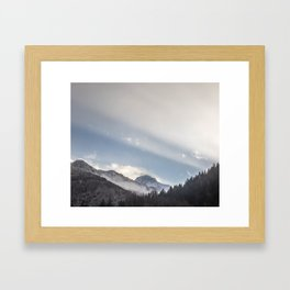 Driving Through Austria Framed Art Print