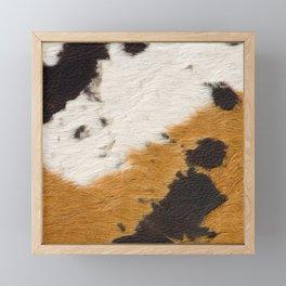 Cowhide, Cow Skin Pattern, Farmhouse Decor Framed Mini Art Print