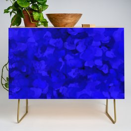 Rich Cobalt Blue Abstract Credenza