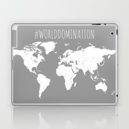 #WorldDomination World Map in Grey for Sales or Travel Laptop & iPad Skin