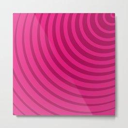 Circles (Fuchsia/DarkMagenta) Metal Print