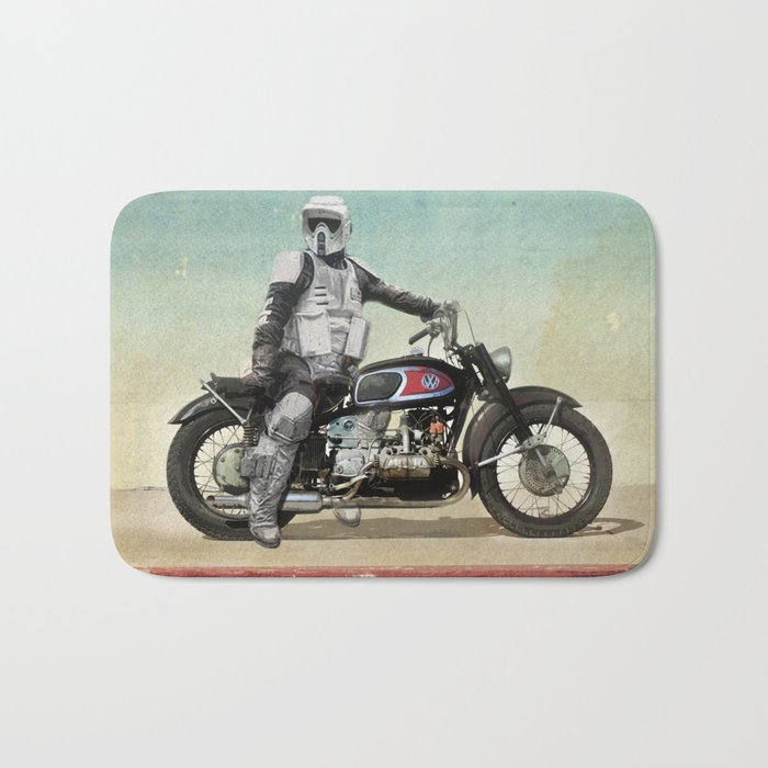 Looking for the drones, Scout Trooper Motorbike Bath Mat