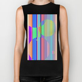 Re-Created Intersection XI by Robert S. Lee Biker Tank