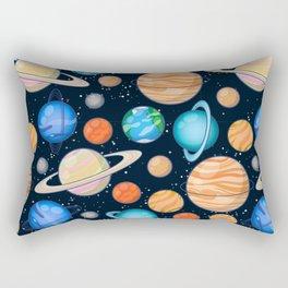 Planetary space pattern Rectangular Pillow