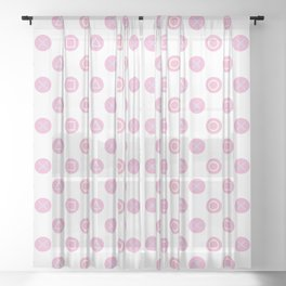 Gamer Girl - Pastel Controller Buttons Sheer Curtain