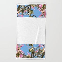 Spring Hummingbird Beach Towel