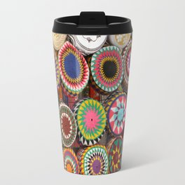 Bright Colored Hats in Cairo Egypt Market Travel Mug