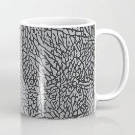 Elephant Print Texture - Grey Coffee Mug
