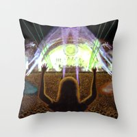 concert Throw Pillows featuring The Concert by Vargamari