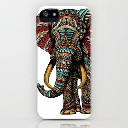Ornate Elephant (Color Version) iPhone Case