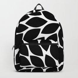 Black & White Chrysanthemum Backpack