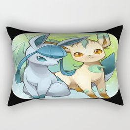 Leafeon & Glaceon Rectangular Pillow