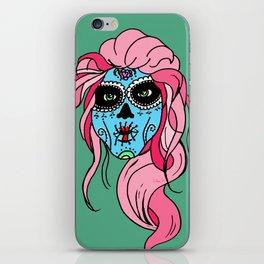 Pastel Sugar Skull iPhone Skin