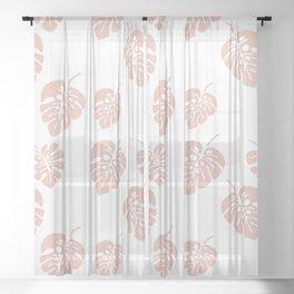 Tropical pattern 007 Sheer Curtain