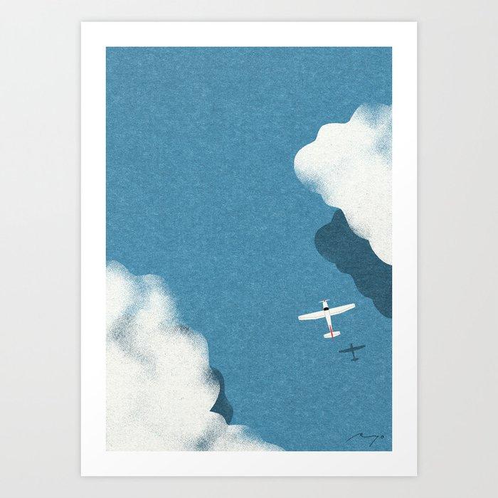 Over the sea Kunstdrucke