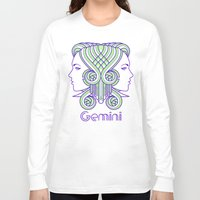 deco Long Sleeve T-shirts featuring Deco Gemini by Jorge Garza