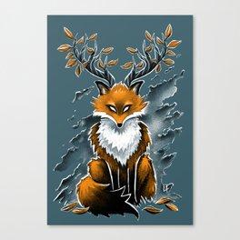 Deer Fox Canvas Print