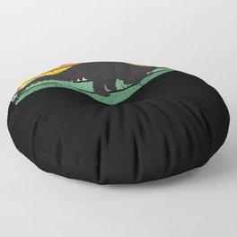 Pangolin Vintage Retro Style Floor Pillow