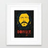 bon iver Framed Art Prints featuring Bon Iver by Oliveira37/Tadeu Amaral