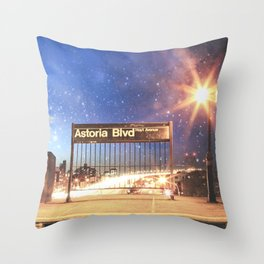 Astoria Blvd Throw Pillow
