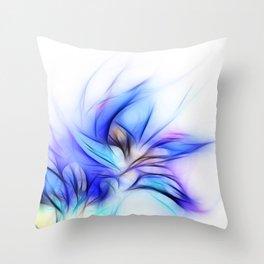 Night Bloom Invert Throw Pillow