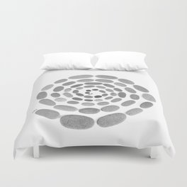 You & Me Circle Of Stones... Duvet Cover