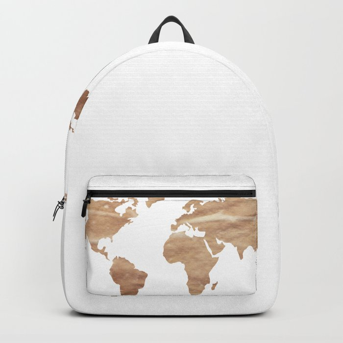 Vintage Paper World Map Backpack By Mapmaker Society6