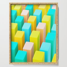 Color Blocking Pastels Serving Tray