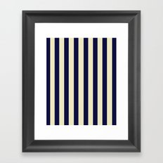 Navy Stripes Framed Art Print